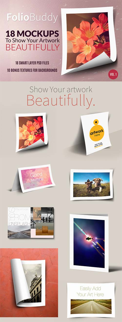 CreativeMarket 18 Mockups for Portfolio Display
