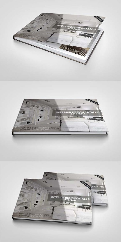 CreativeMarket Landscape Book Mock-Up