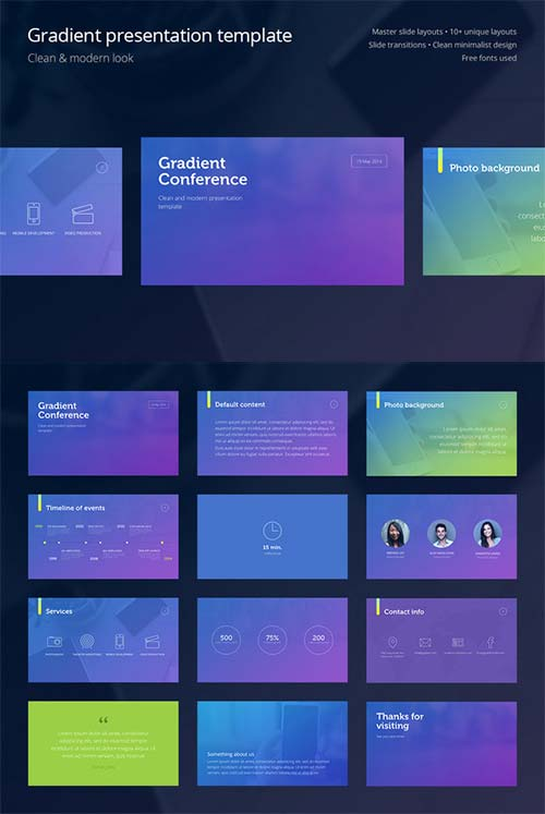 CreativeMarket Gradient Presentation Template