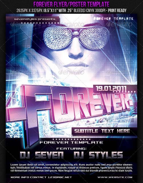 GraphicRiver Forever Poster/Flyer Template.