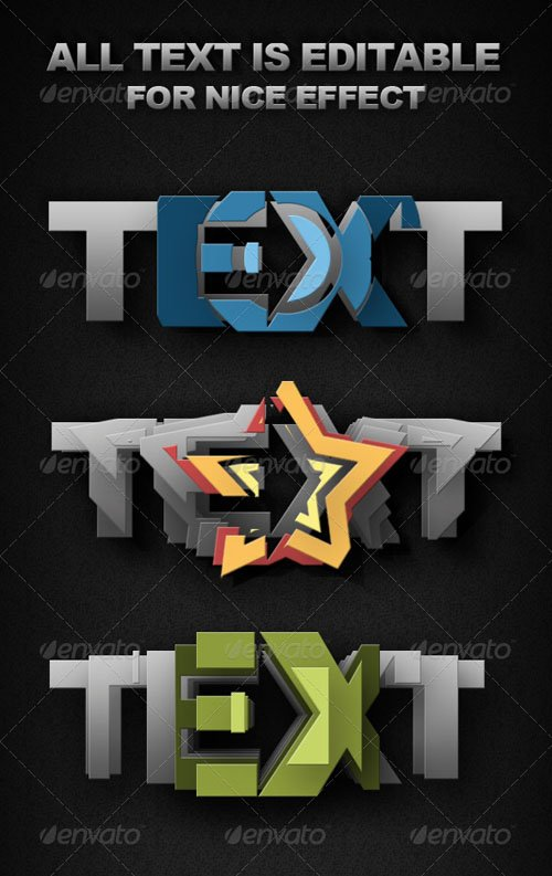 GraphicRiver Smart-Object Text