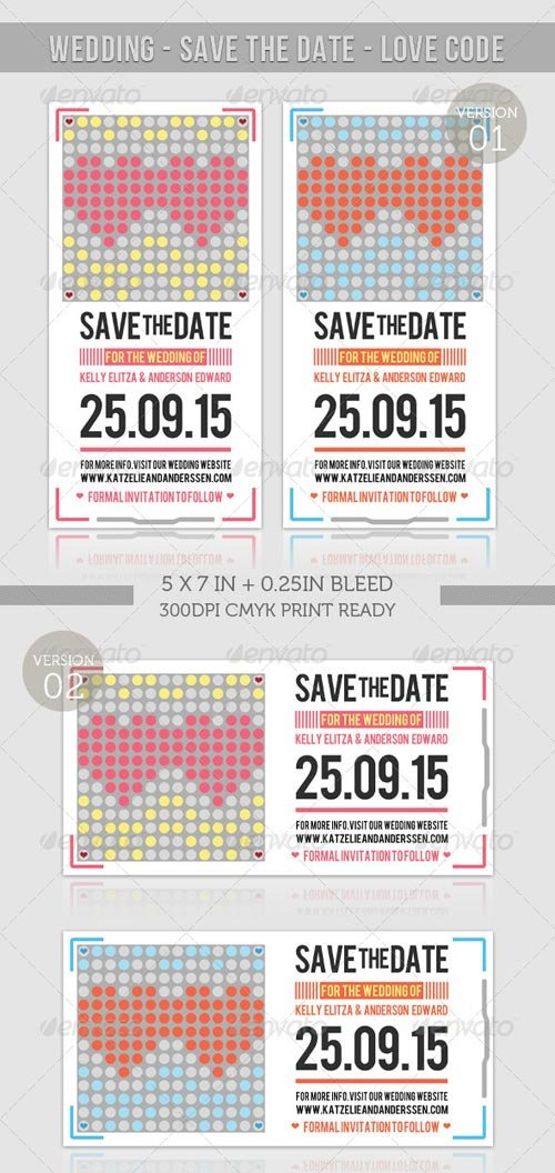 GraphicRiver Wedding - Save The Date - Love Code