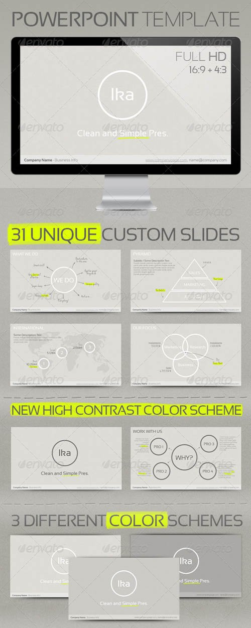 GraphicRiver Ika - Clean and Simple Presenation Template