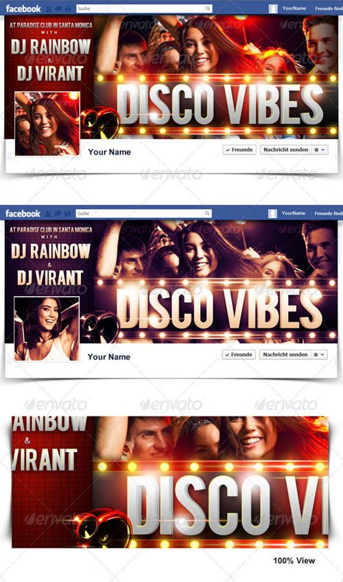 GraphicRiver Disco Vibes Timeline Cover