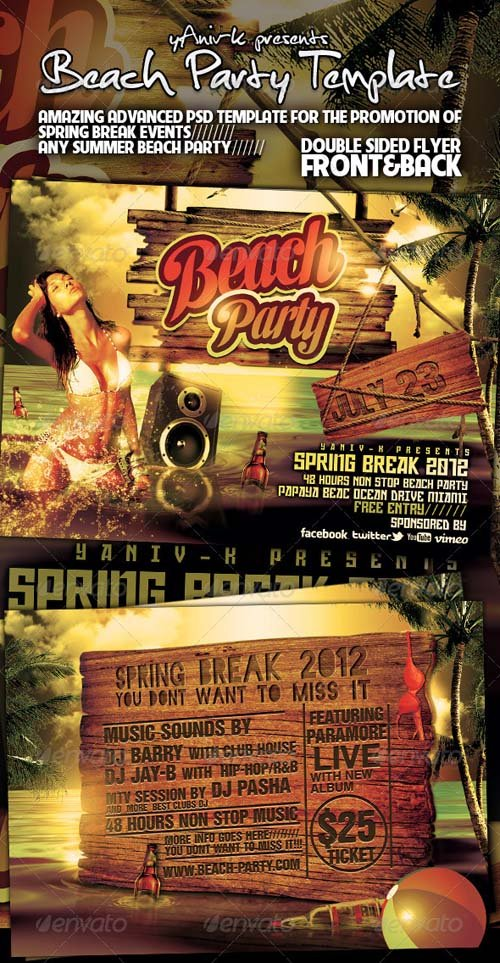 GraphicRiver Beach Party Flyer Template