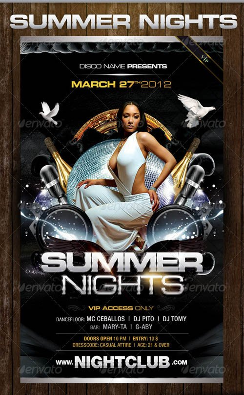 GraphicRiver Dark Summer Nights Flyer