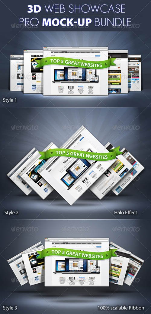 GraphicRiver PRO 3d Web Showcase Mock-ups