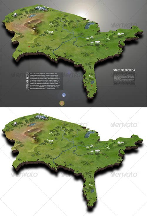 GraphicRiver USA Map