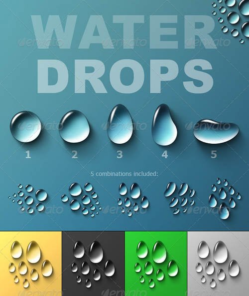 GraphicRiver Water Drops