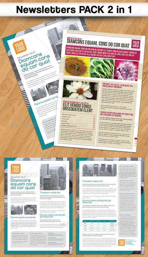 GraphicRiver Newsletters PACK 2 in 1