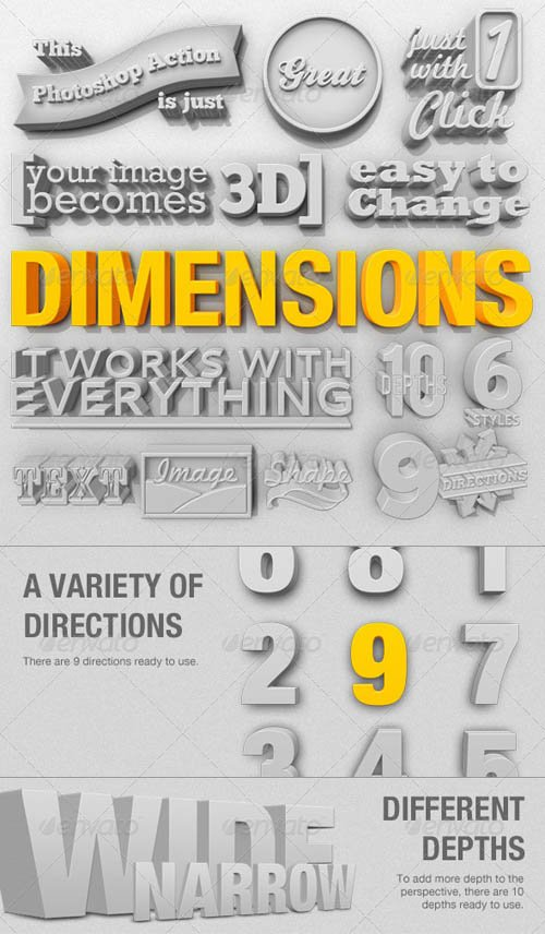 GraphicRiver Dimensions 3D Generator Action