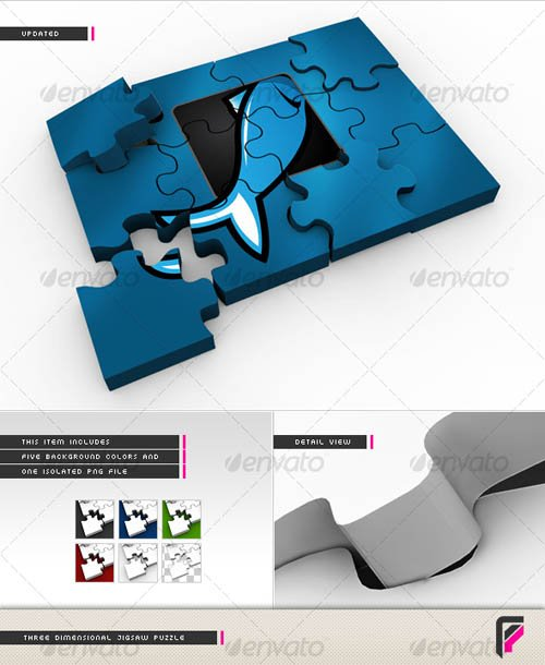 GraphicRiver 3D Jigsaw Puzzle