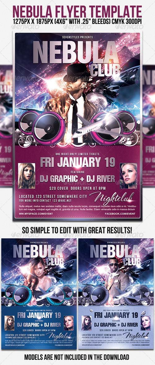 GraphicRiver Nebula Flyer Template