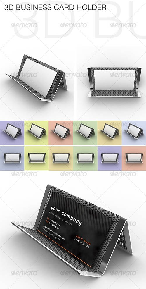 GraphicRiver 3D Business Card Holder