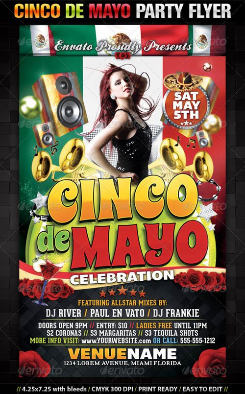 GraphicRiver Cinco De Mayo Party Flyer Template
