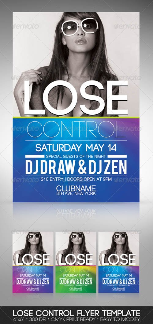 Graphicriver Lose Control Party Flyer
