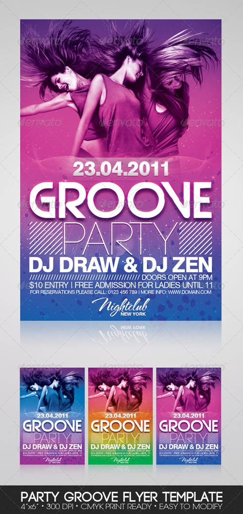 Graphicriver Party Groove Flyer