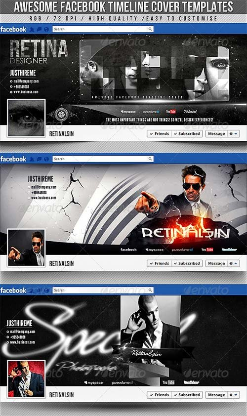 GraphicRiver Facebook Timeline Covers - 3in1
