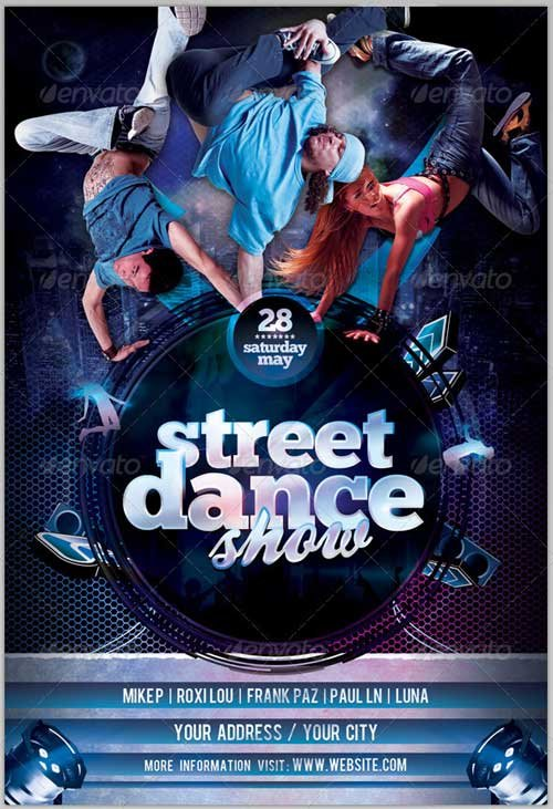 GraphicRiver Street Dance Show Flyer Template