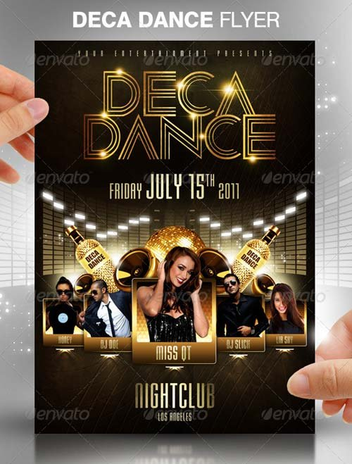 Graphicriver Deca Dance Party Flyer