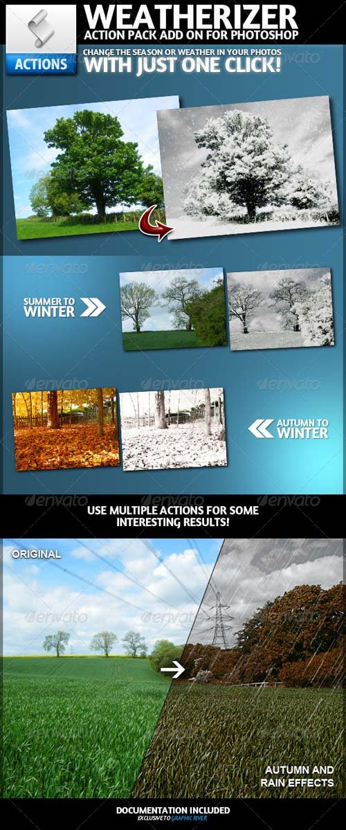 GraphicRiver Weatherizer | Photoshop Actions