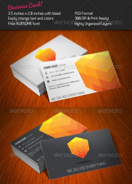 GraphicRiver Cubic Business Card