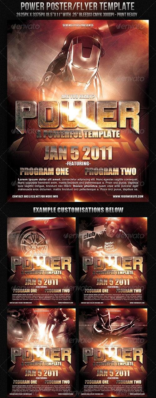 GraphicRiver Power Poster Flyer Template