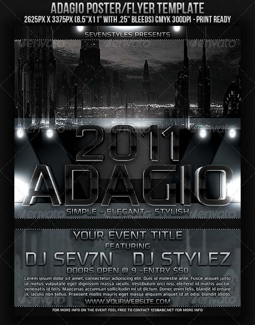 GraphicRiver Adagio Poster Flyer Template