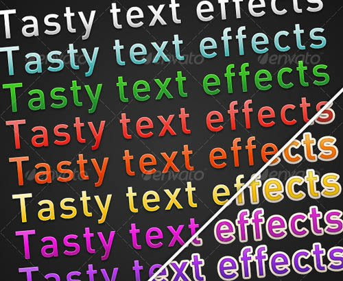 GraphicRiver Tasty Text Effects (Dark)