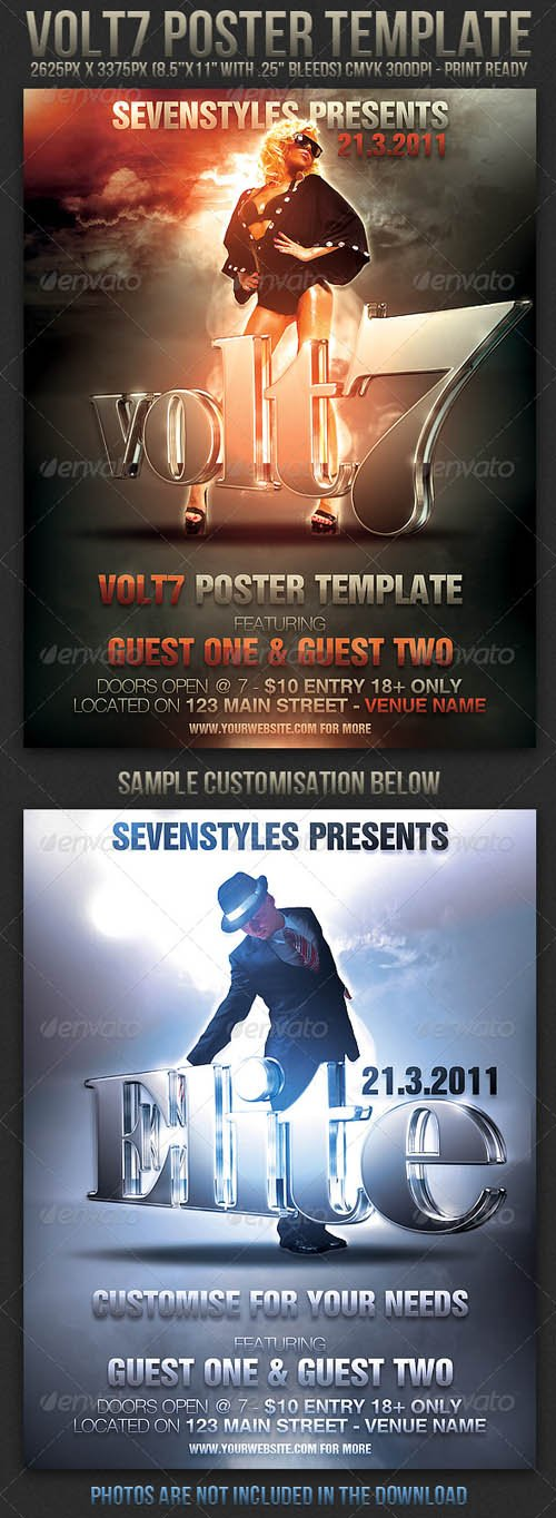 Graphicriver Volt7 Poster/Flyer Template