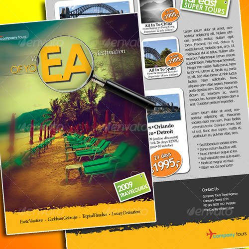 Graphicriver Trendy Travel Flyer