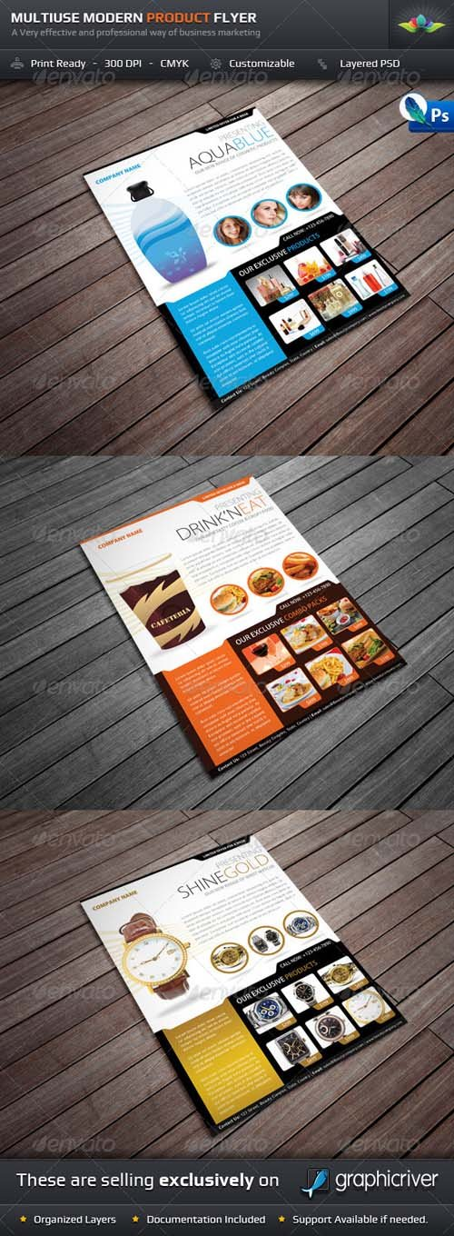 GraphicRiver Multiuse Modern Product Flyer
