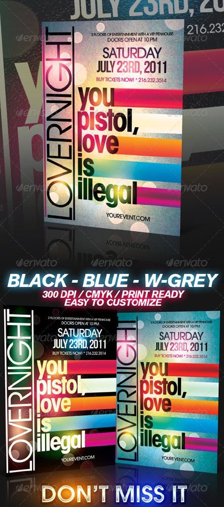 GraphicRiver Lover Party Flyer