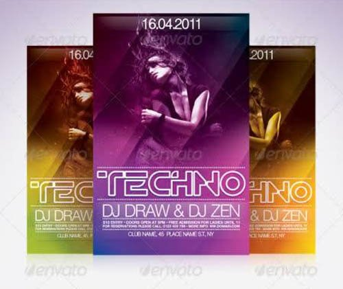 GraphicRiver Techno Flyer Template