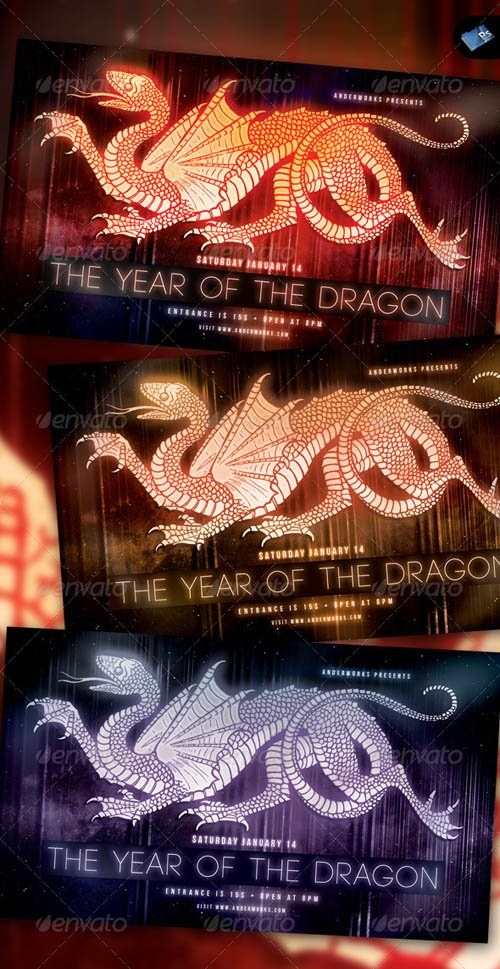 GraphicRiver The Year of the Dragon Vol.1 - Modern