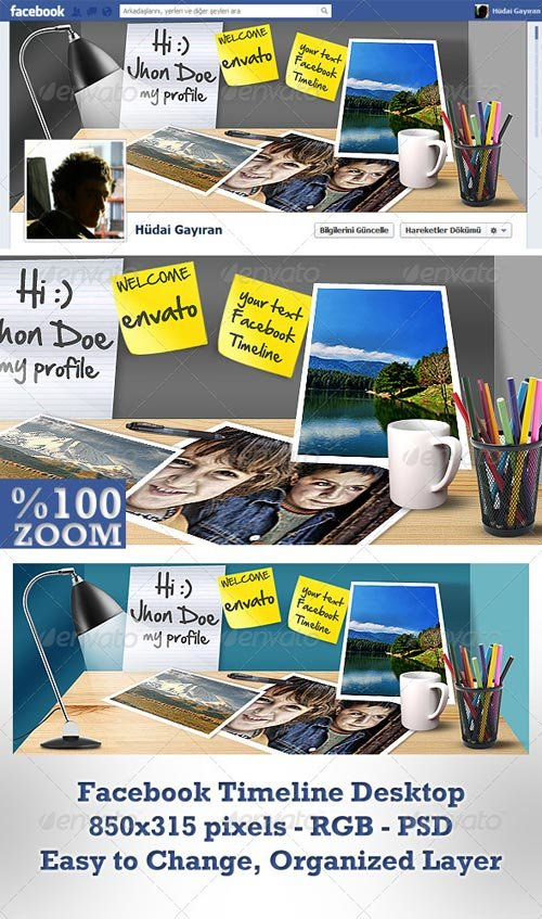 GraphicRiver Facebook Timeline Cover Desktop