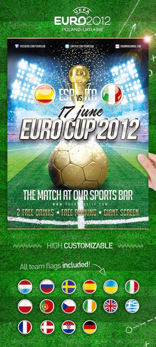 GraphicRiver Euro Soccer Cup 2012 Flyer
