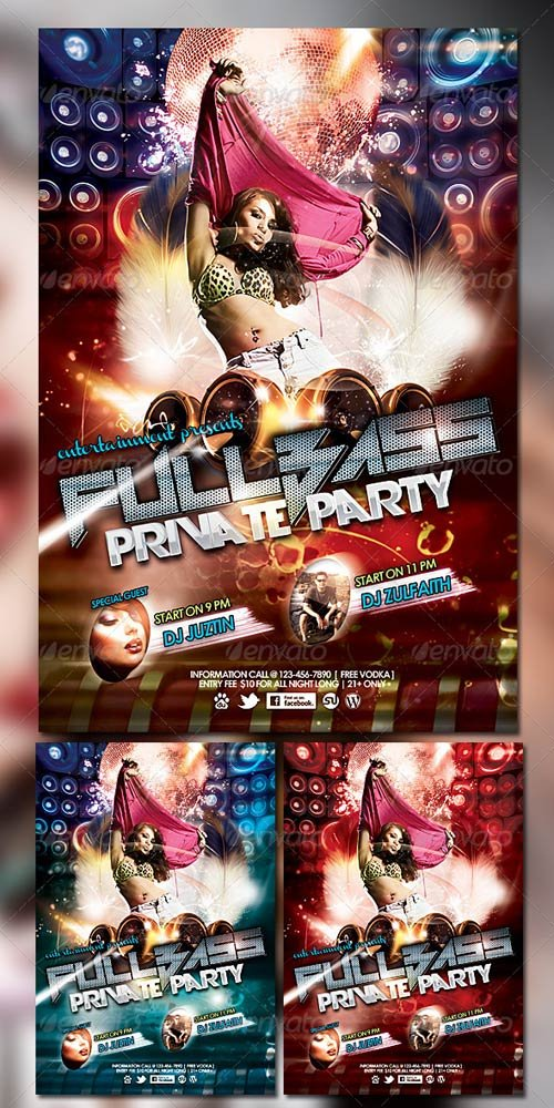 GraphicRiver Fullbass Party Flyer