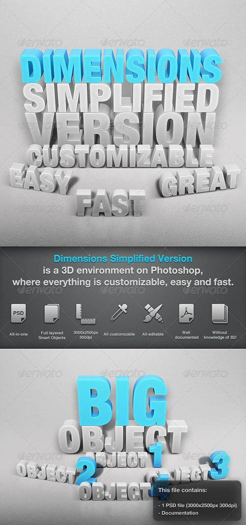 GraphicRiver Dimensions Simplified Version - Mock-up 1