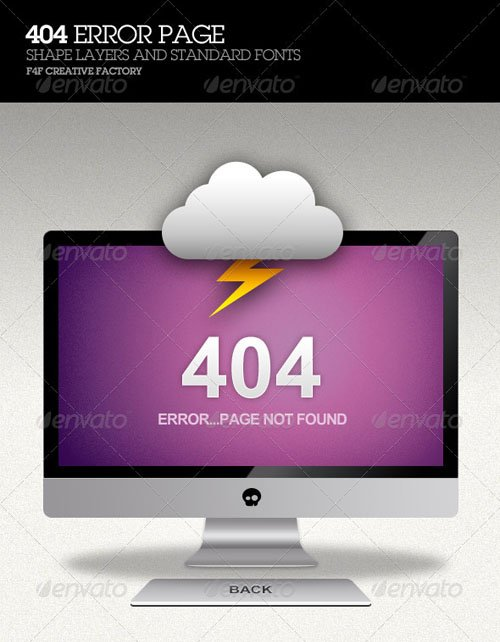 GraphicRiver 404 Error Page