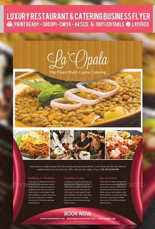 GraphicRiver Luxury Restaurant & Catering Flyer PSD Template