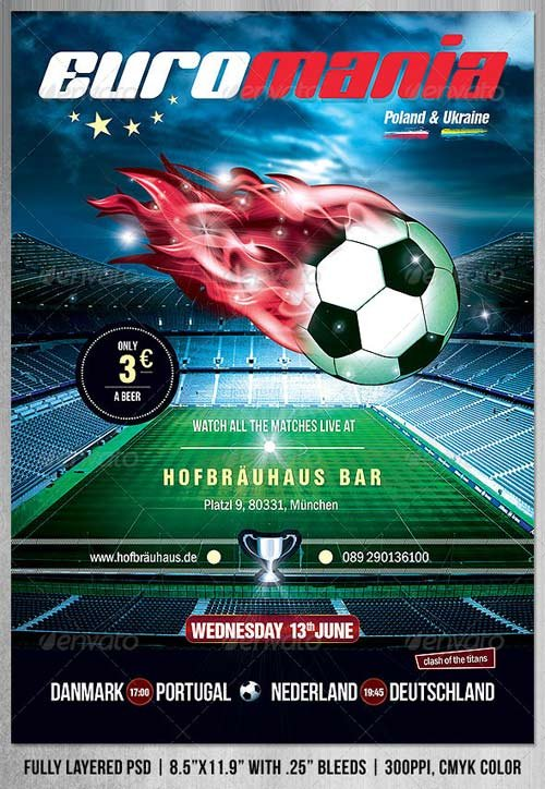 GraphicRiver EuroMania Football (Soccer) Poster/Flyer