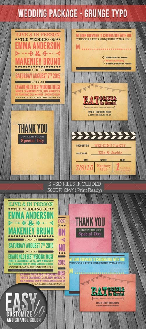 GraphicRiver [ Wedding Package ] - Grunge Typography