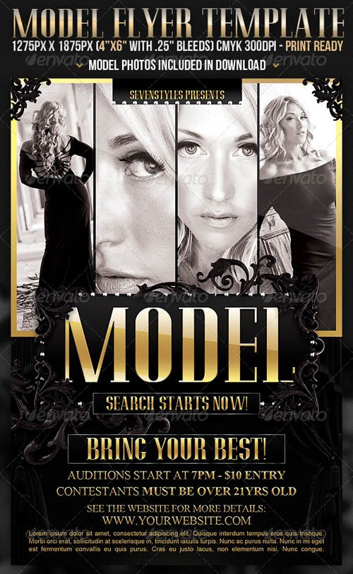 GraphicRiver Model Flyer Template