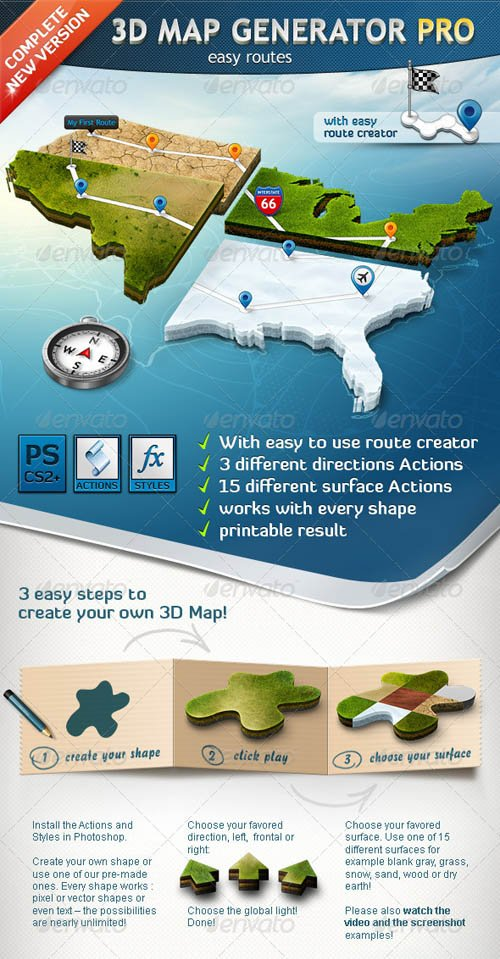 GraphicRiver 3D Map Generator Pro - Easy Routes