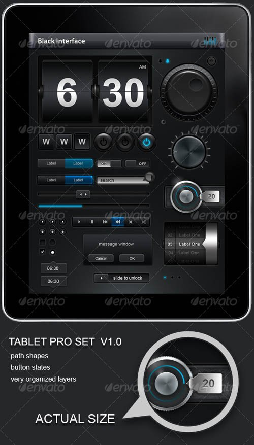 GraphicRiver Tablet/Phone User Interface PROFESSIONAL SET