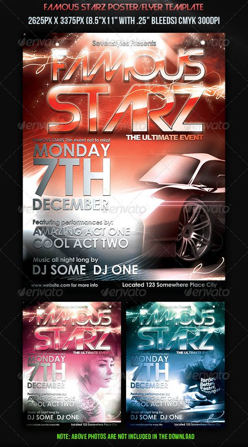 GraphicRiver Famous Starz Flyer Poster Template