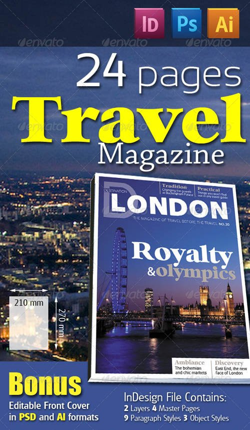 GraphicRiver 24 Pages Travel Magazine Version One