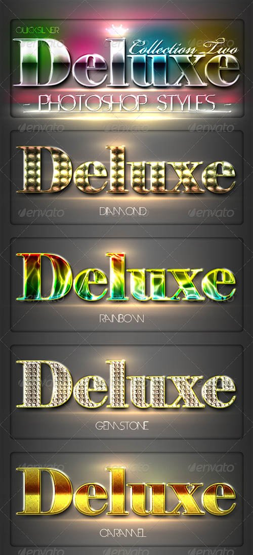 GraphicRiver 10 DeLuxe Photoshop Layer Styles Collection 2