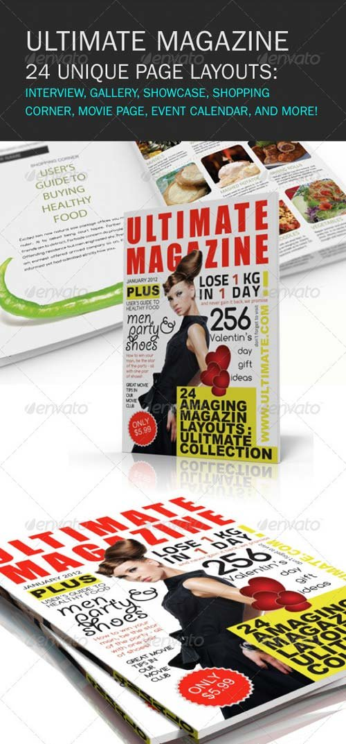 GraphicRiver Ultimate Magazine 24 layouts